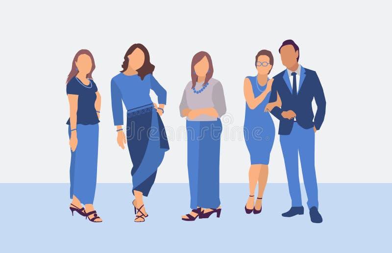 Επίπεδος χαρακτήρας του μόνιμου ταϊλανδικού φορέματος ανθρώπων ελεύθερη απεικόνιση δικαιώματος