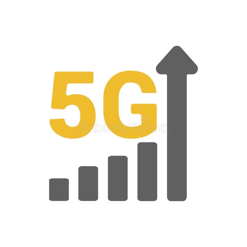 Επίπεδος 5g δείκτης δύναμης σημάτων GSM απεικόνισης διανυσματική απεικόνιση