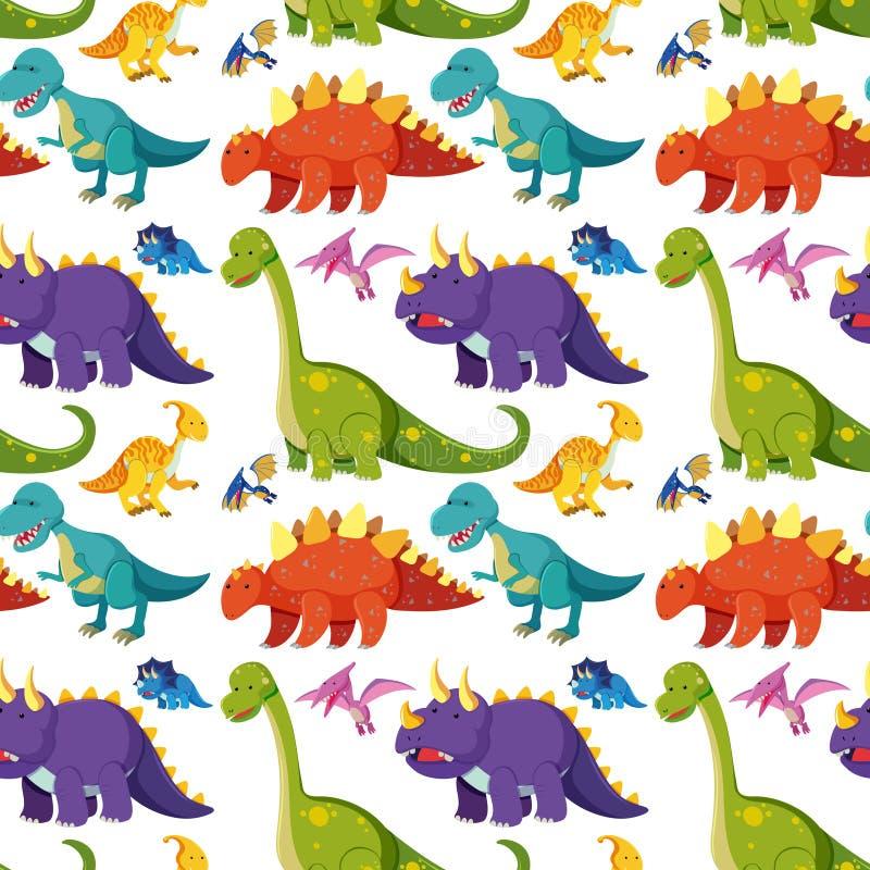 Επίπεδο άνευ ραφής υπόβαθρο δεινοσαύρων απεικόνιση αποθεμάτων