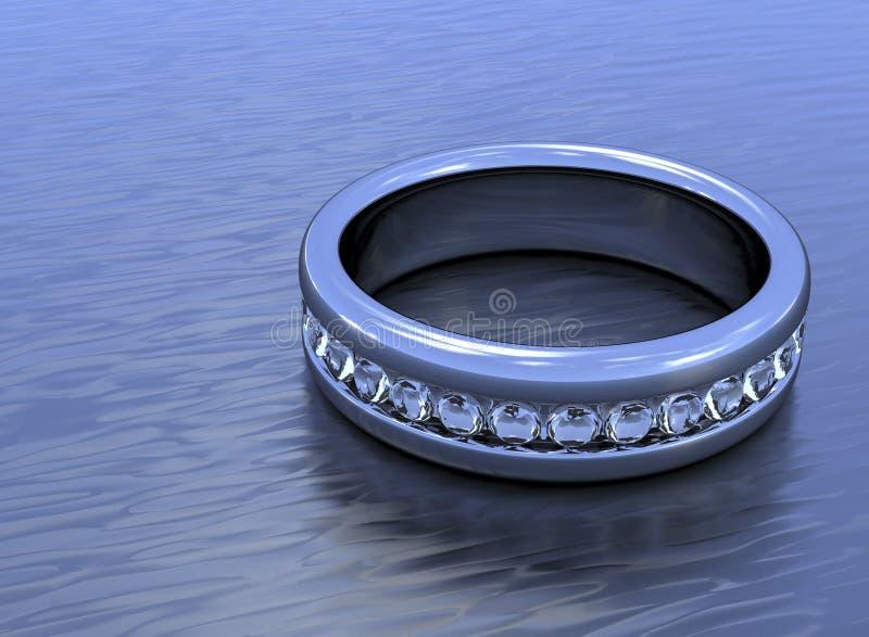 επίπεδο δαχτυλίδι διαμ&alpha στοκ φωτογραφίες με δικαίωμα ελεύθερης χρήσης