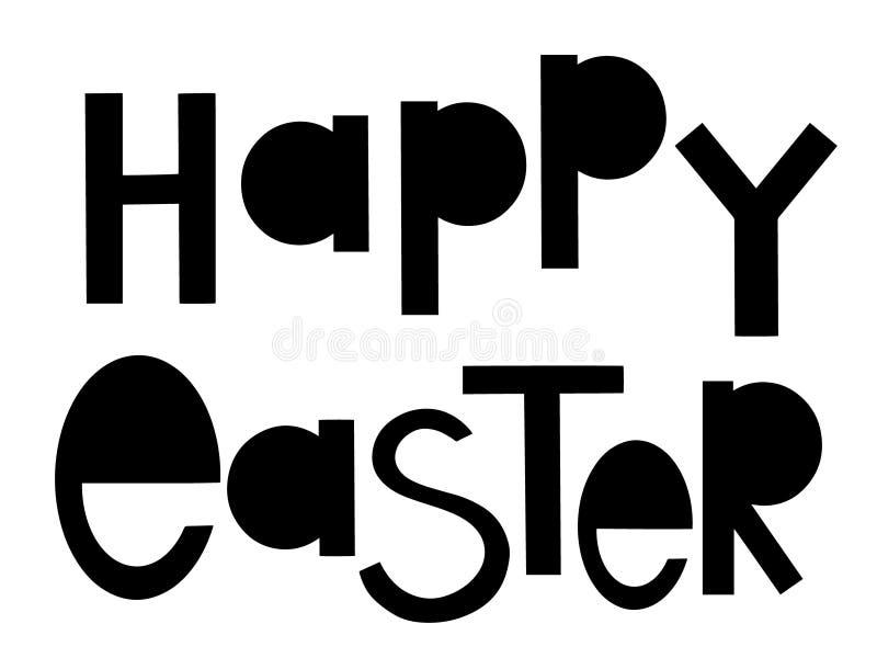 Επίπεδο διανυσματικό έμβλημα φεστιβάλ εορτασμού Πάσχας Τυποποιημένη τυπογραφία διακοπών άνοιξη Διακοσμητική εγγραφή E ελεύθερη απεικόνιση δικαιώματος