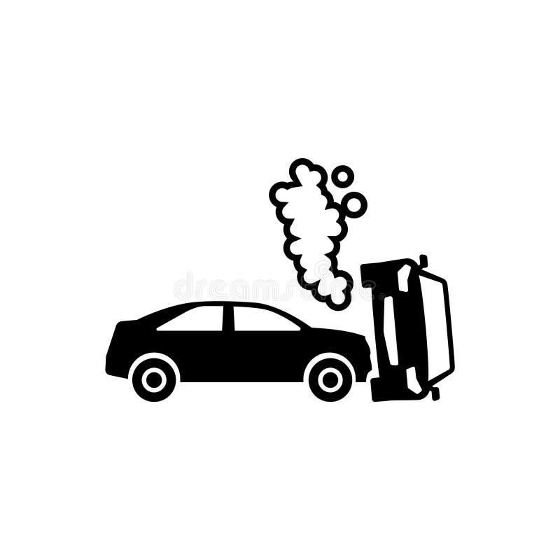 Επίπεδο διανυσματικό εικονίδιο τροχαίου ατυχήματος διανυσματική απεικόνιση
