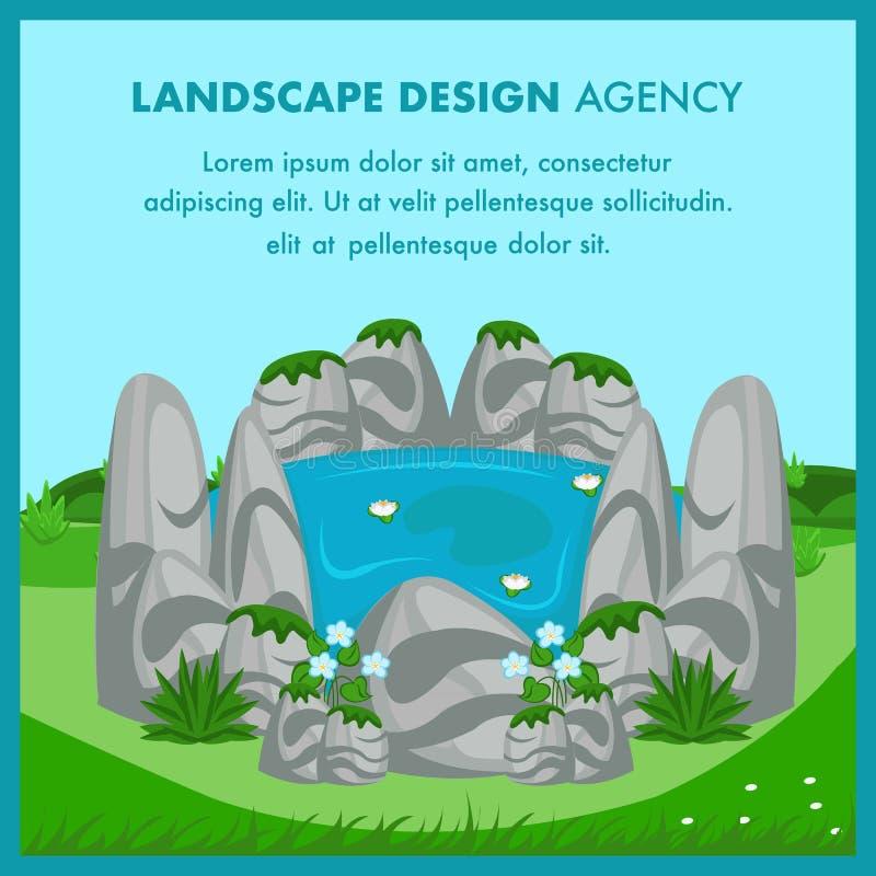 Επίπεδο διανυσματικό πρότυπο εμβλημάτων σχεδίου τοπίων διανυσματική απεικόνιση