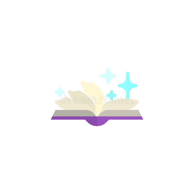 Επίπεδο εικονίδιο βιβλίων περιόδου ελεύθερη απεικόνιση δικαιώματος