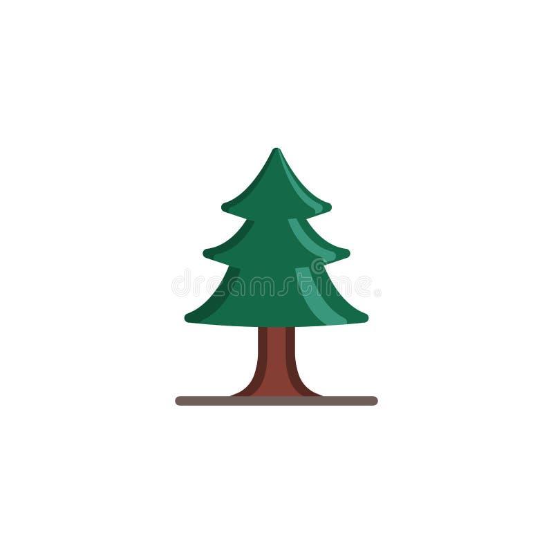 Επίπεδο εικονίδιο δέντρων πεύκων απεικόνιση αποθεμάτων