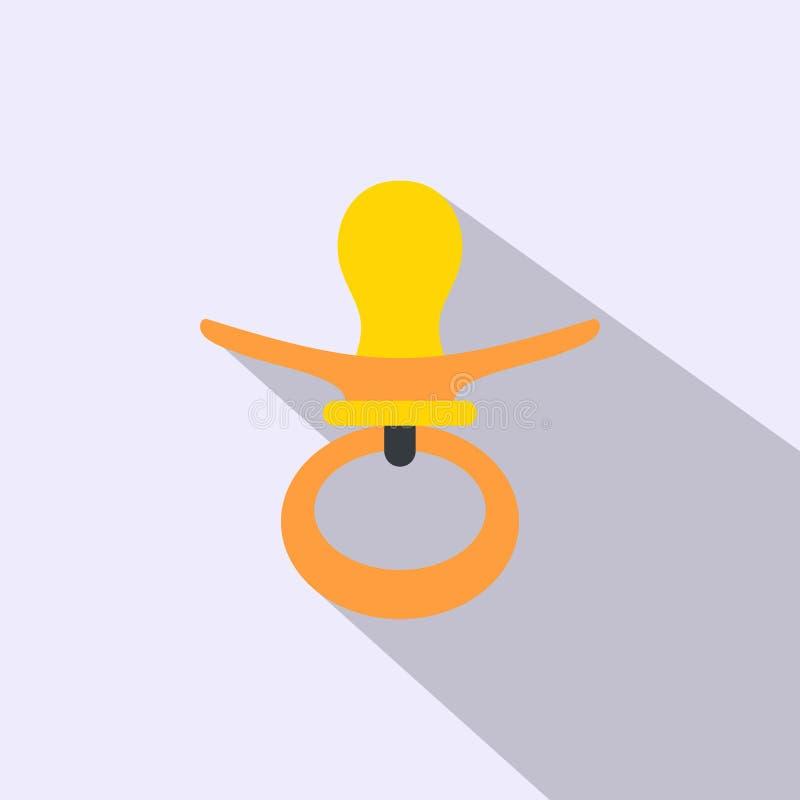 Επίπεδο εικονίδιο θηλών απεικόνιση αποθεμάτων