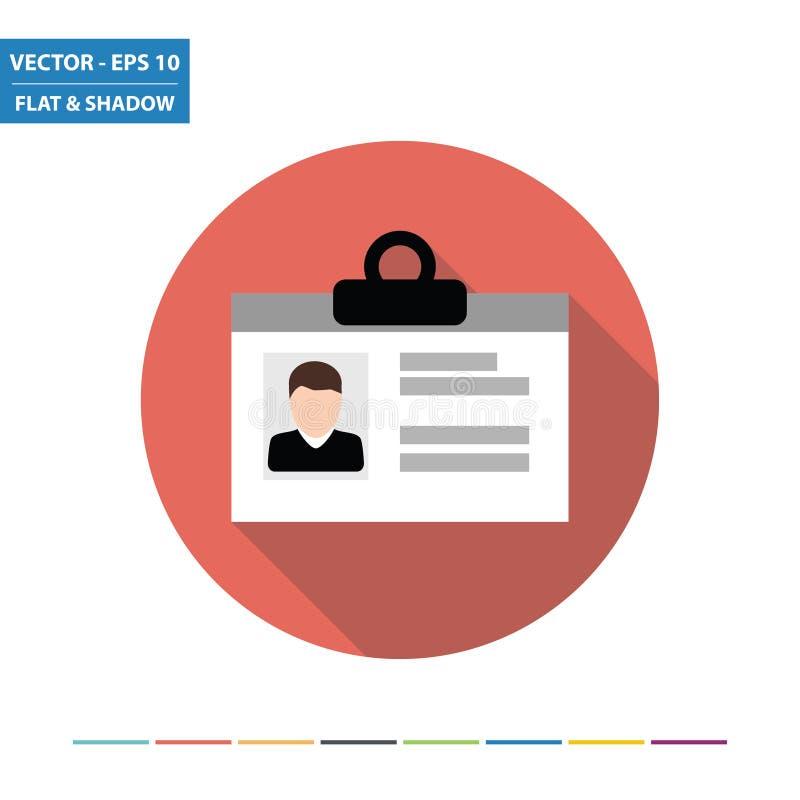 Επίπεδο εικονίδιο καρτών ταυτότητας ελεύθερη απεικόνιση δικαιώματος