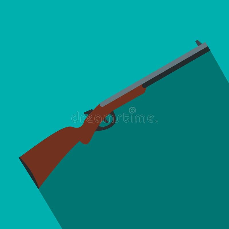 Επίπεδο εικονίδιο κυνηγετικών όπλων κυνηγιού ελεύθερη απεικόνιση δικαιώματος