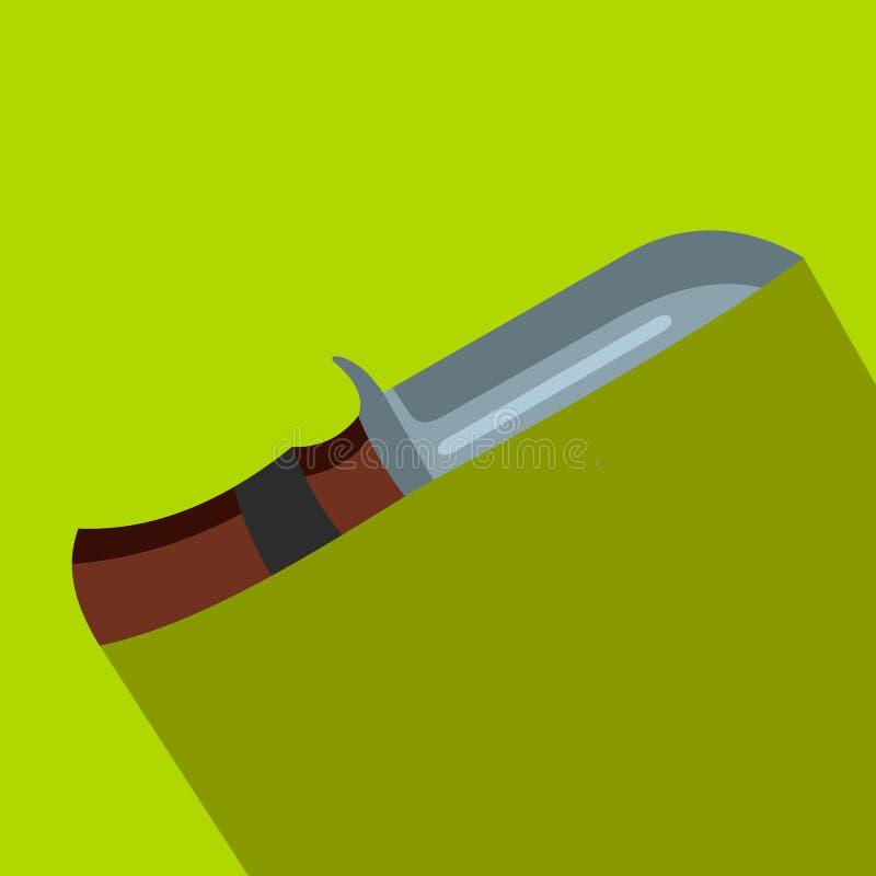 Επίπεδο εικονίδιο μαχαιριών κυνηγιού διανυσματική απεικόνιση
