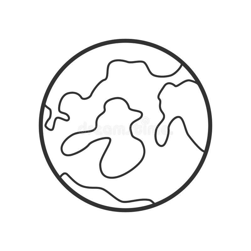 Επίπεδο εικονίδιο περιλήψεων πανσελήνων στο λευκό απεικόνιση αποθεμάτων