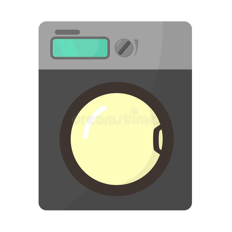 Επίπεδο εικονίδιο πλυντηρίων διανυσματική απεικόνιση