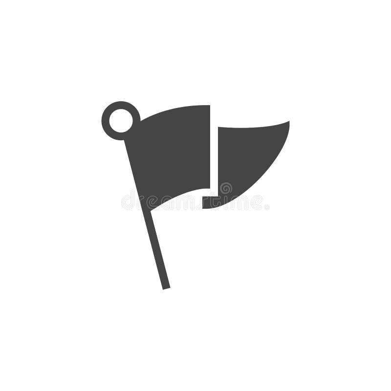 Επίπεδο εικονίδιο σημαιών για την ένδειξη της θέσης, σημάδι στο ΠΣΤ, δείκτης για τους ιστοχώρους ναυσιπλοΐας ταξιδιού, apps και ά διανυσματική απεικόνιση