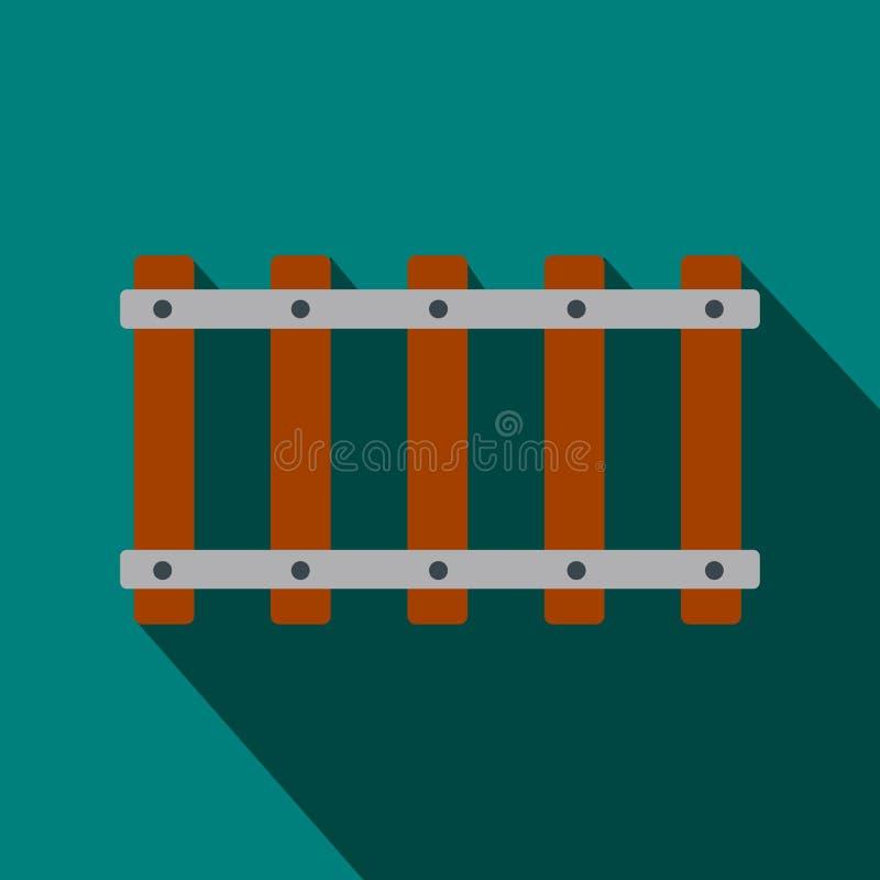 Επίπεδο εικονίδιο σιδηροδρόμου απεικόνιση αποθεμάτων