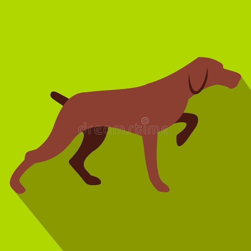 Επίπεδο εικονίδιο σκυλιών κυνηγιού διανυσματική απεικόνιση