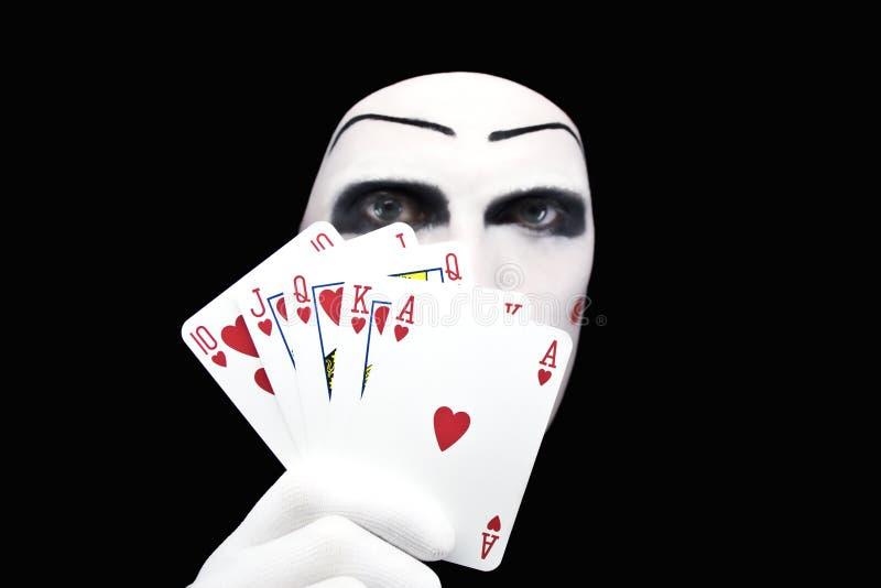 επίπεδο πορτρέτο mime βασιλικό στοκ εικόνες