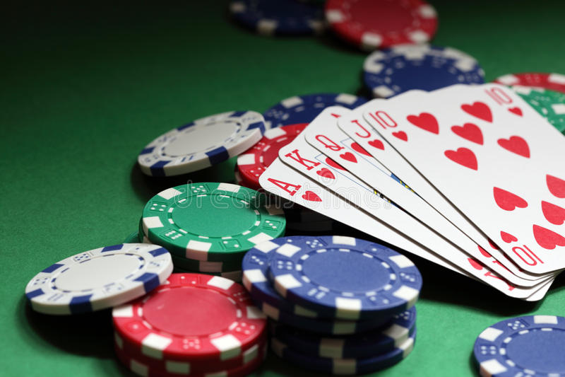 επίπεδο πόκερ χεριών βασι&l στοκ φωτογραφία με δικαίωμα ελεύθερης χρήσης