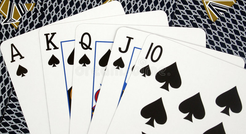 επίπεδο πόκερ χεριών βασι&l στοκ εικόνες
