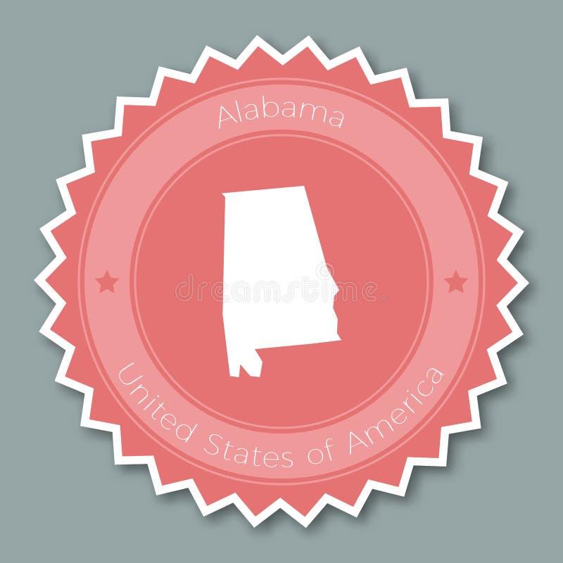 Επίπεδο σχέδιο διακριτικών της Αλαμπάμα απεικόνιση αποθεμάτων