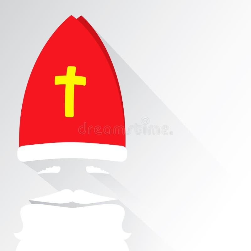 Επίπεδο σχέδιο διανυσματικός Άγιος Βασίλης στο άσπρο υπόβαθρο χαιρετισμός καλή χρονιά καρτών του 2007 Επίπεδη διανυσματική απεικό στοκ φωτογραφία
