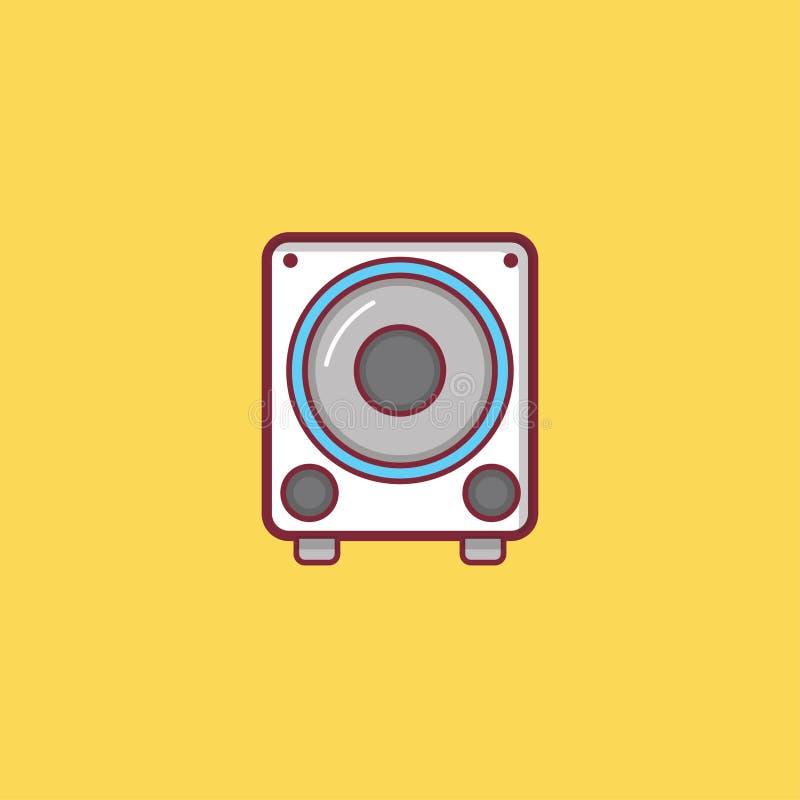 Επίπεδο σχέδιο στοιχείων απεικόνισης εικονιδίων μουσικής στοκ εικόνες