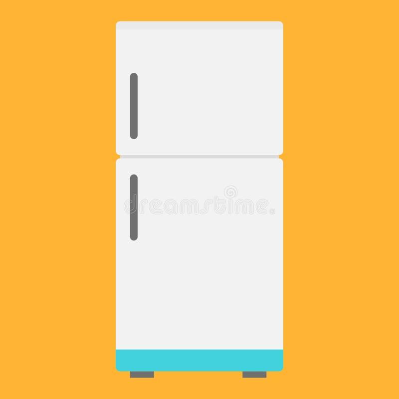 Επίπεδο ψυγείο εικονιδίων απεικόνιση αποθεμάτων