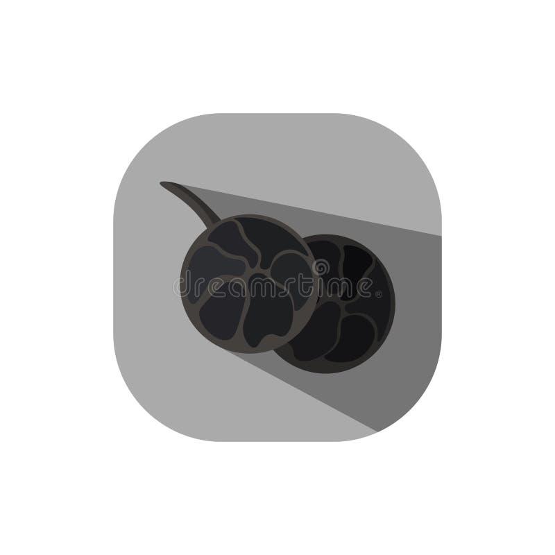 Επίπεδο Peppercorn σχεδίου διανυσματική απεικόνιση