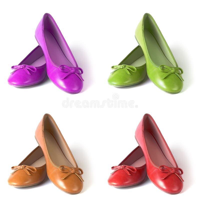 επίπεδα παπούτσια στοκ φωτογραφίες