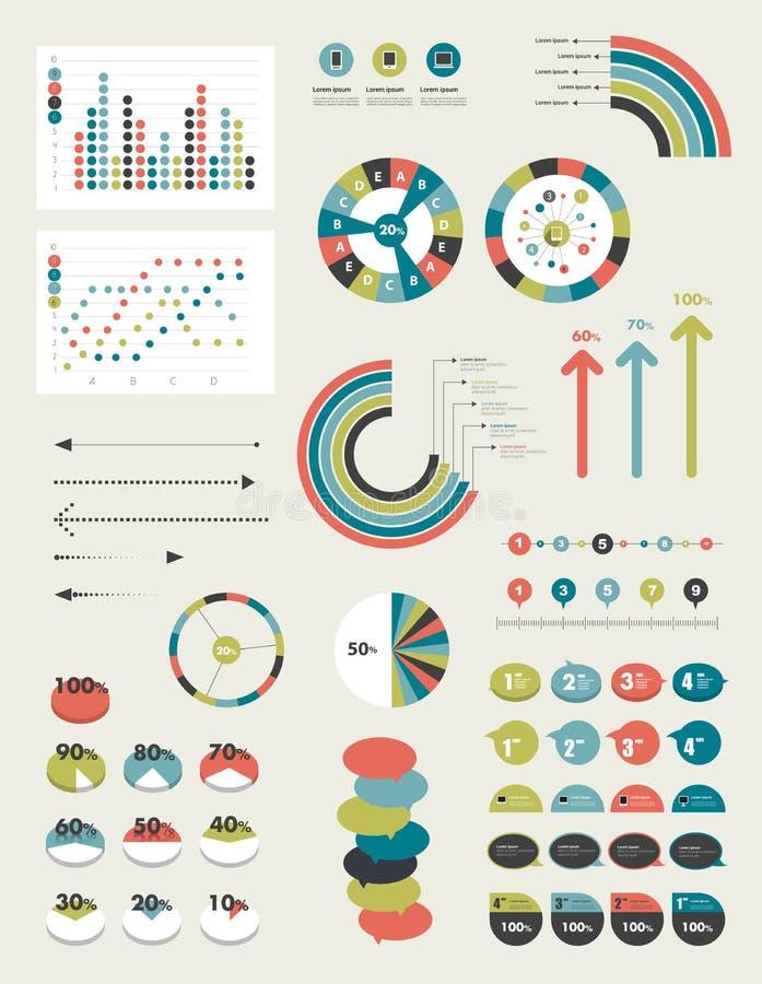 Επίπεδα στοιχεία Infographics διανυσματική απεικόνιση