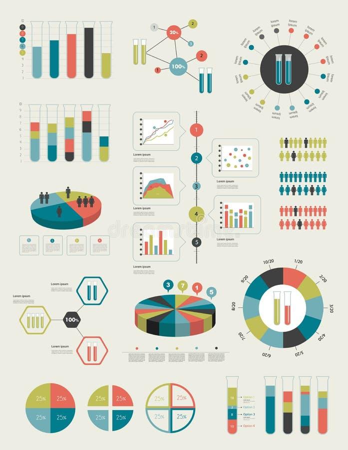 Επίπεδα στοιχεία Infographics απεικόνιση αποθεμάτων