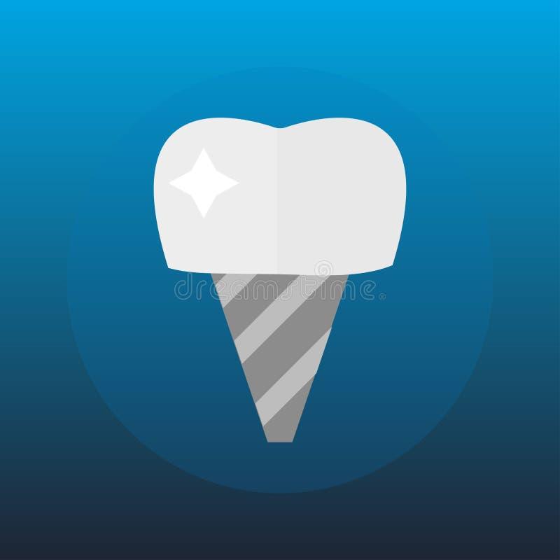 Επίπεδες έννοια ερευνητικής ιατρικές υγειονομικής περίθαλψης μοσχευμάτων δοντιών οδοντιάτρων υγειονομικής περίθαλψης και στοματολ διανυσματική απεικόνιση