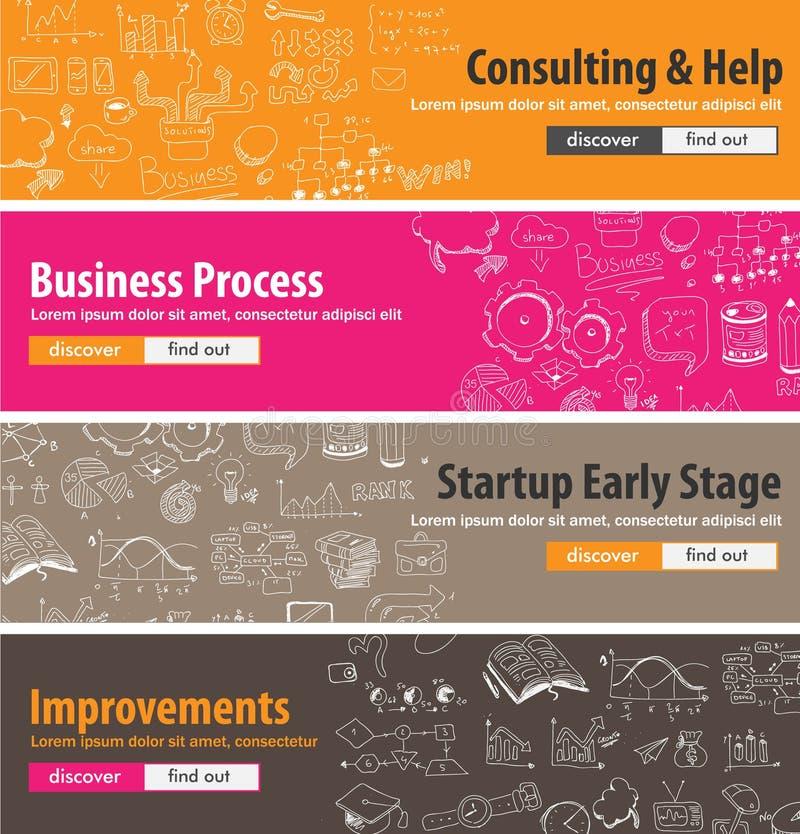 Επίπεδες έννοιες σχεδίου για τα ξεκινήματα, διαβούλευση, επιχείρηση ελεύθερη απεικόνιση δικαιώματος