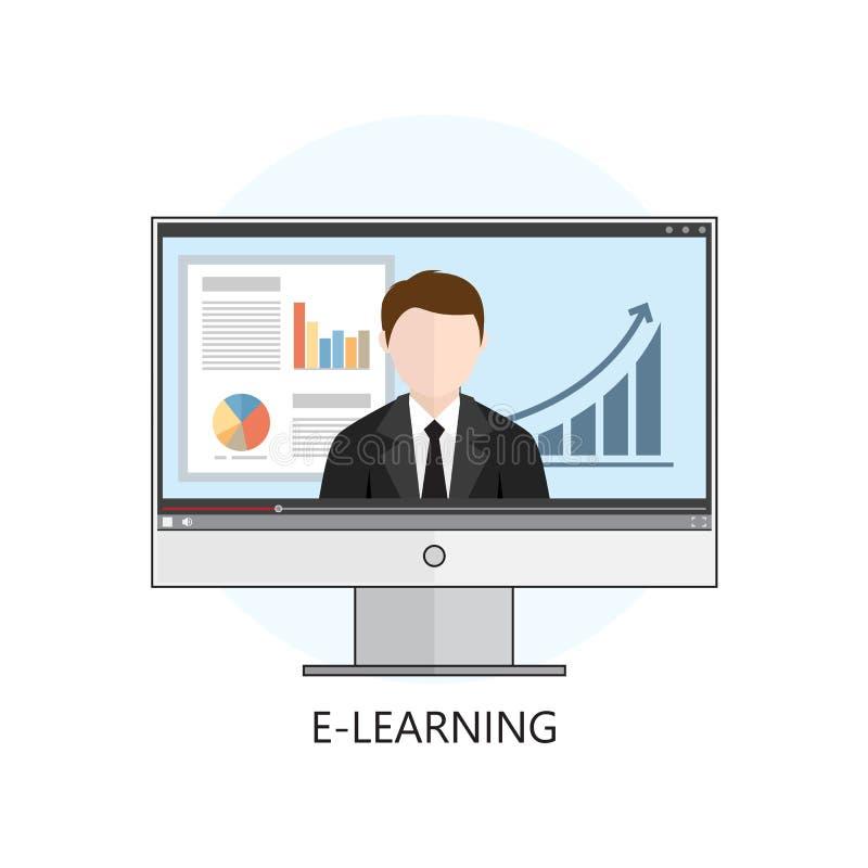 Επίπεδη έννοια απεικόνισης σχεδίου ζωηρόχρωμη διανυσματική για webinar, επάνω ελεύθερη απεικόνιση δικαιώματος