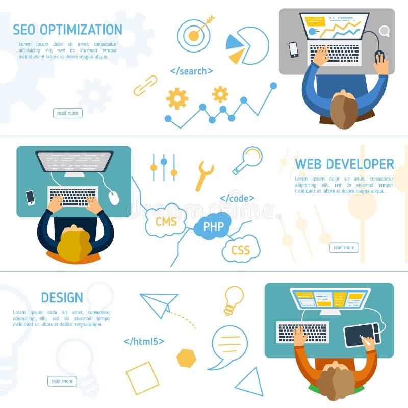 Επίπεδη έννοια σχεδίου για το ψηφιακό μάρκετινγκ ελεύθερη απεικόνιση δικαιώματος