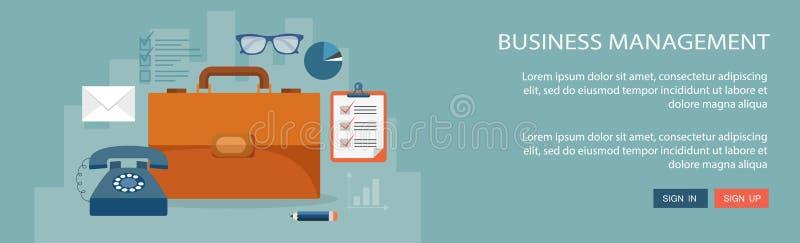 Download Επίπεδη απεικόνιση διοίκησης επιχειρήσεων με τα εικονίδια Διανυσματική απεικόνιση - εικονογραφία από ανάπτυξη, κινητός: 62706096