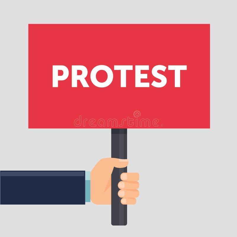 Επίπεδη απεικόνιση σημαδιών διαμαρτυρίας εκμετάλλευσης χεριών Διαμαρτυρία ή επίδειξη Πολιτική έννοια συνάθροισης Επίπεδο σχέδιο δ διανυσματική απεικόνιση