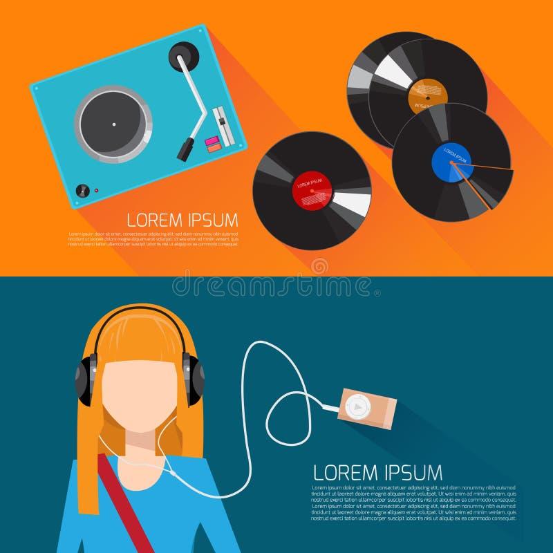 Επίπεδη διανυσματική απεικόνιση μουσικής στοκ φωτογραφία με δικαίωμα ελεύθερης χρήσης
