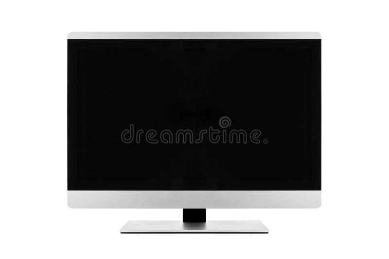 Επίπεδη οθόνη LCD, ρεαλιστική χλεύη TV TV πλάσματος επάνω Μαύρο monito HD στοκ φωτογραφία