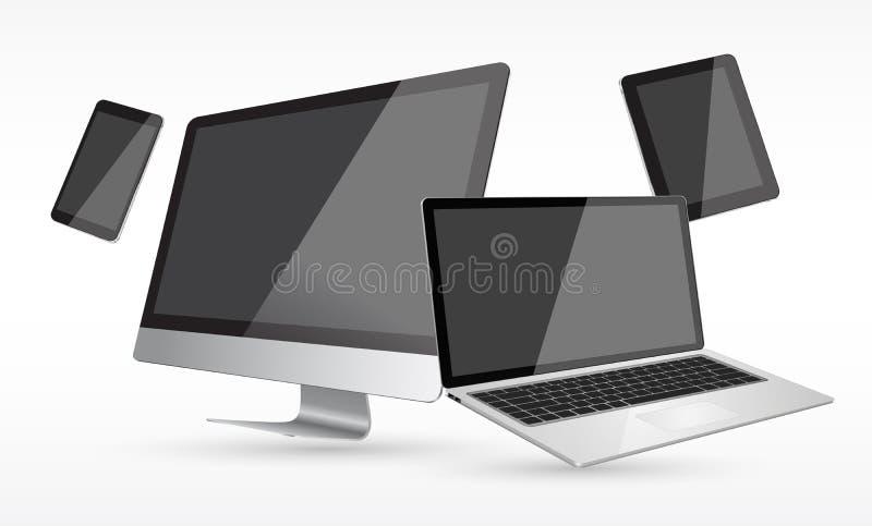 Επίπεδη σχεδίου συσκευή τεχνολογίας συλλογής σύγχρονη ψηφιακή απεικόνιση αποθεμάτων