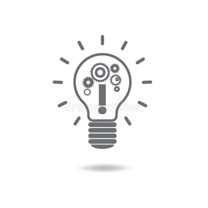 Επίπεδη infographic έννοια λαμπών φωτός καινοτομίας ιδέας ύφους σύγχρονη απεικόνιση αποθεμάτων