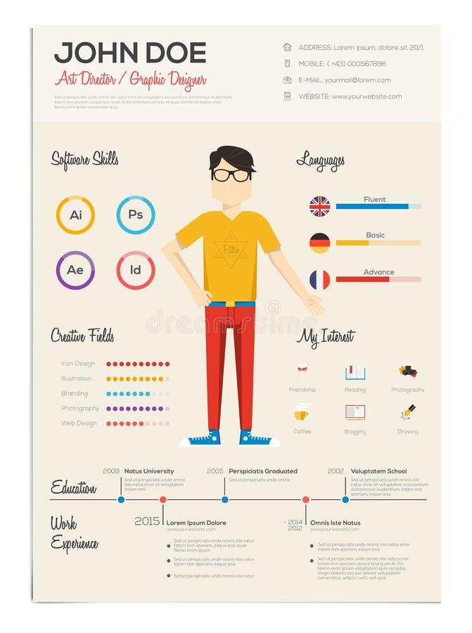 Επίπεδος επαναλάβετε με Infographics απεικόνιση αποθεμάτων