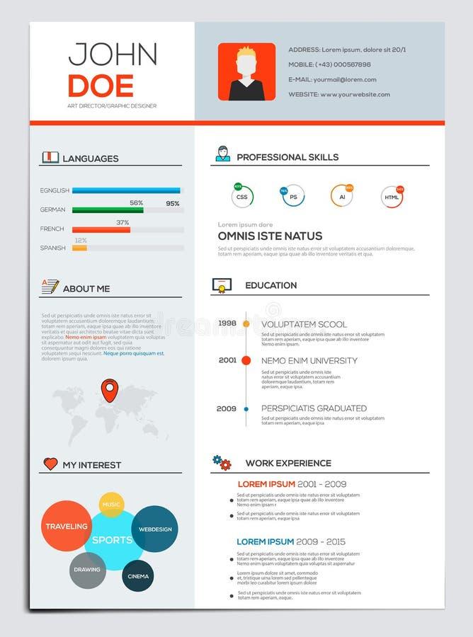 Επίπεδος επαναλάβετε με Infographics ελεύθερη απεικόνιση δικαιώματος