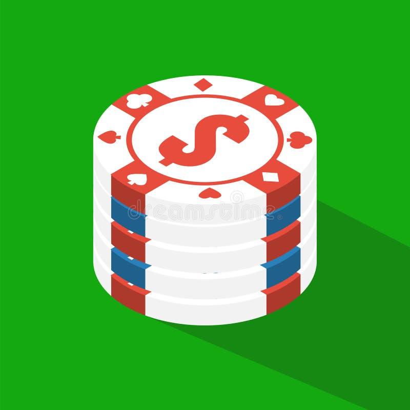 Επίπεδος πίνακας πόκερ Επίπεδος πίνακας πόκερ διανυσματική απεικόνιση