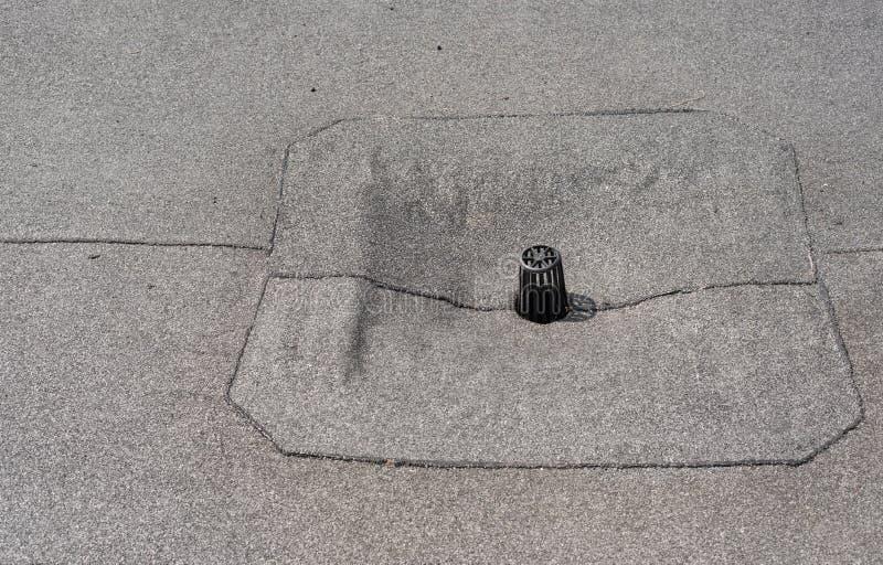 Επίπεδος στενός επάνω αγωγών στεγών στοκ φωτογραφίες με δικαίωμα ελεύθερης χρήσης