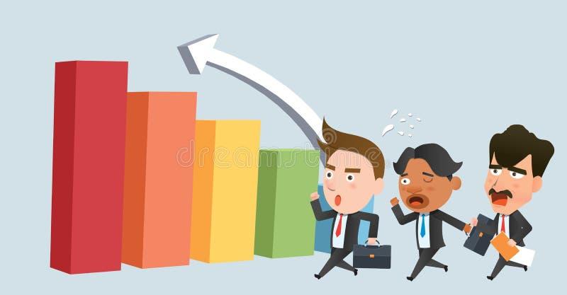 Επίπεδος χαρακτήρας έννοιας γραφικών παραστάσεων ομάδων επιχειρησιακών εταιριών απεικόνιση αποθεμάτων
