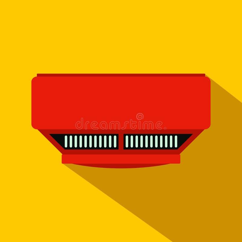 Επίπεδο εικονίδιο ανιχνευτών καπνού απεικόνιση αποθεμάτων