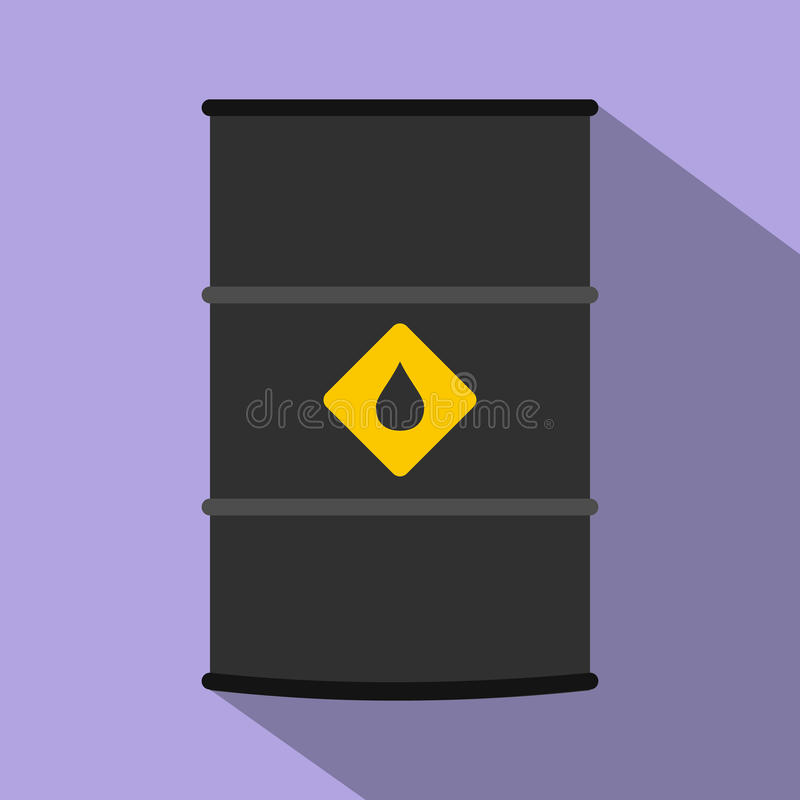 Επίπεδο εικονίδιο βαρελιών πετρελαίου απεικόνιση αποθεμάτων
