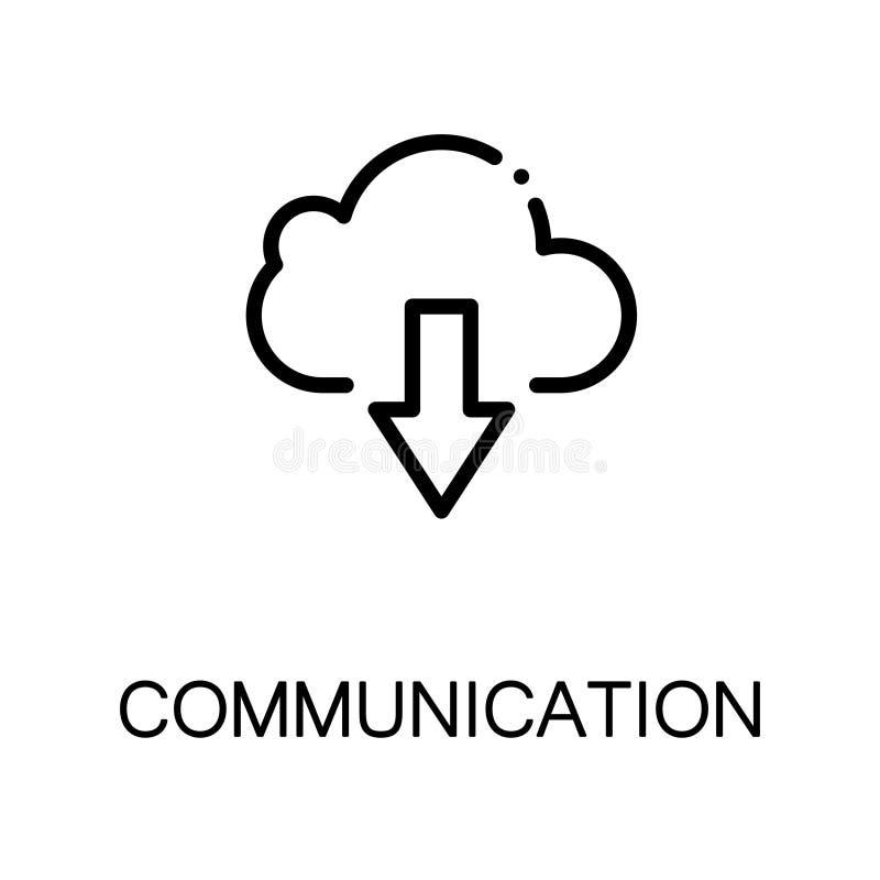 Επίπεδο εικονίδιο επικοινωνίας διανυσματική απεικόνιση