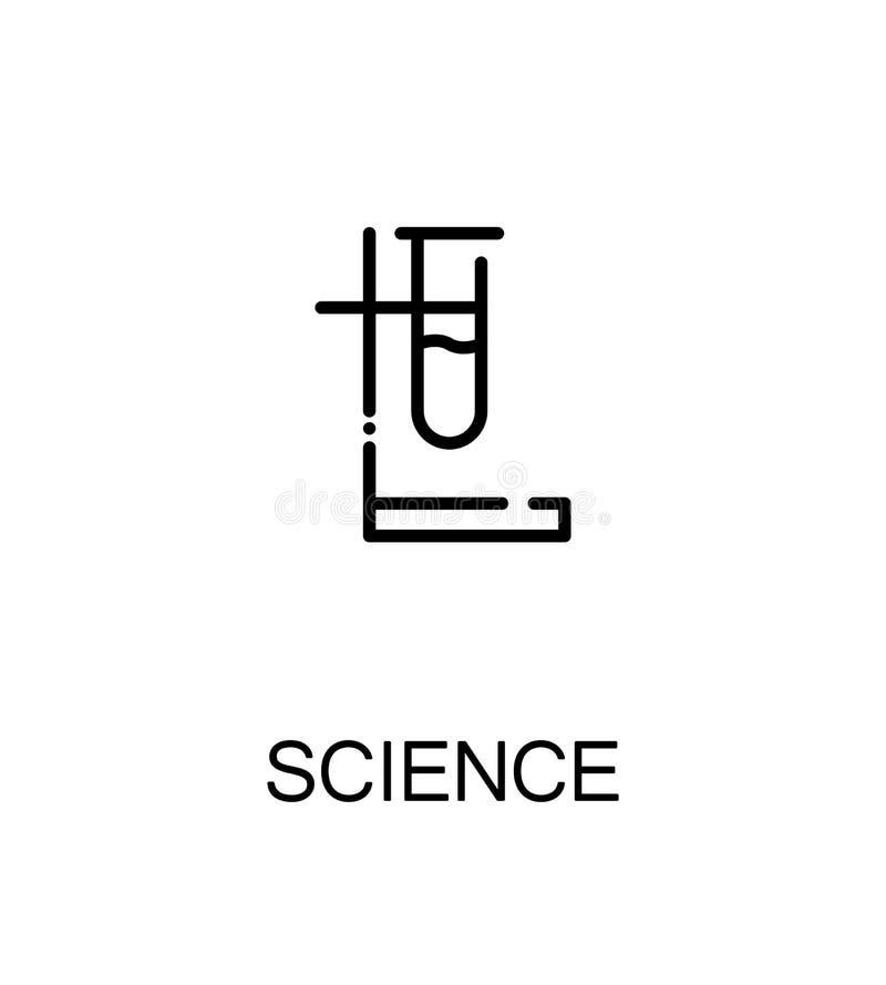 Επίπεδο εικονίδιο επιστήμης απεικόνιση αποθεμάτων