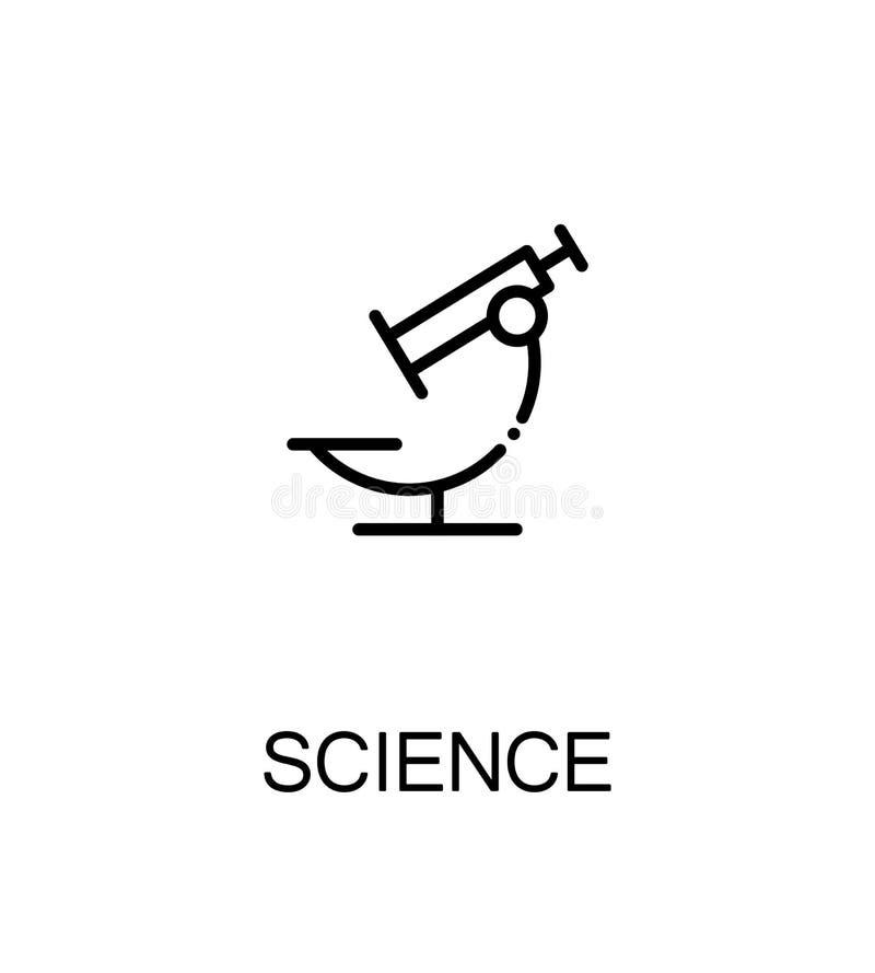 Επίπεδο εικονίδιο επιστήμης ελεύθερη απεικόνιση δικαιώματος