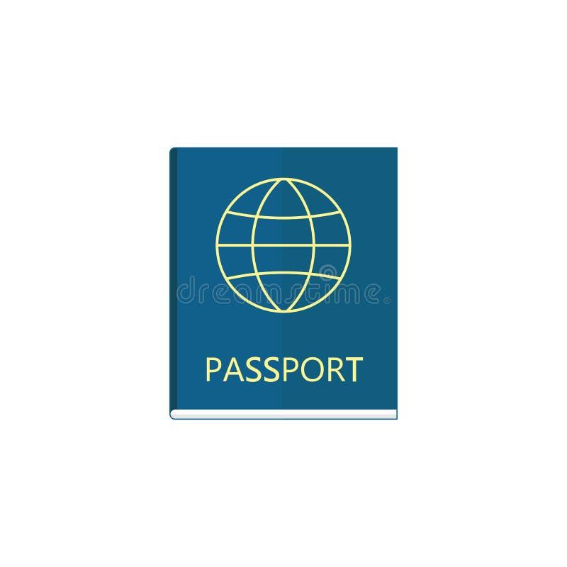 Επίπεδο εικονίδιο διαβατηρίων, πολίτης τουρισμού ταξιδιού και ταυτότητα ελεύθερη απεικόνιση δικαιώματος